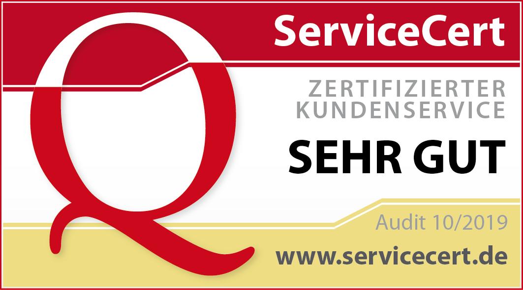 Zertifizierung für sehr guten Kundenservice